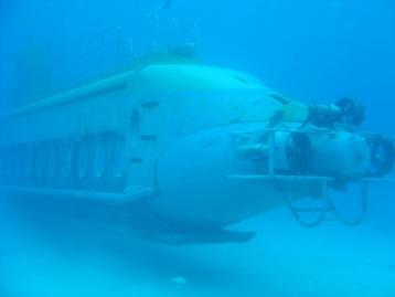 観光用潜水艦なのよ。